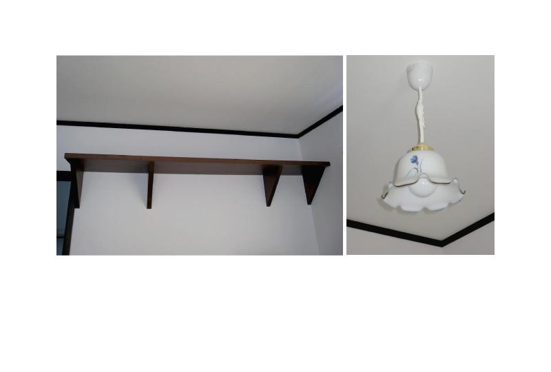 飾り棚、可愛らしい電気傘