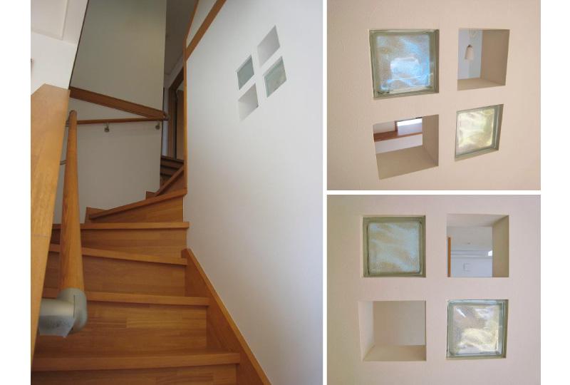 階段とガラスブロック