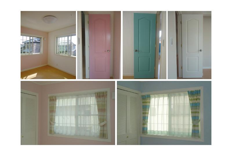 カラフルなドア・窓