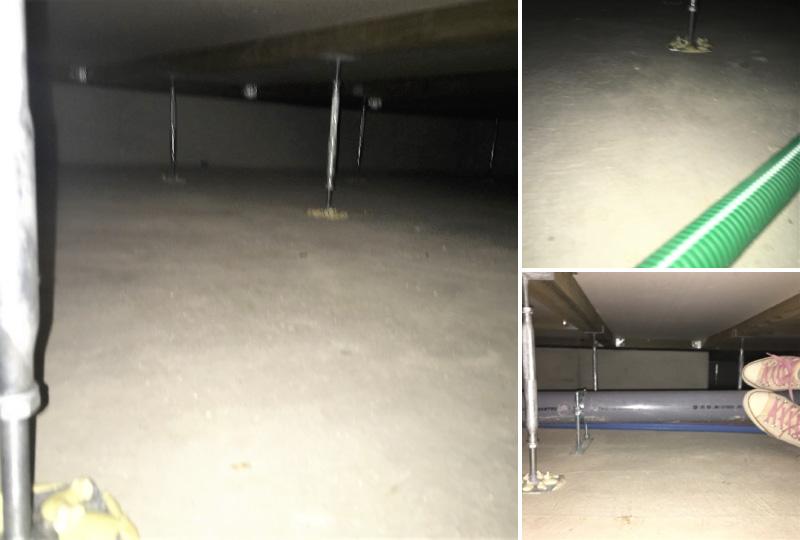 施工後の床下点検